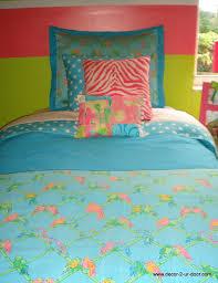 custom lilly pulitzer aqua dorm room bedding set