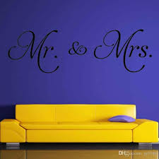 mr mrs wall art decals vinyl self adhesive master bedroom marriage sign personalized home decorative sticker for bedroom decor wall art murals decals