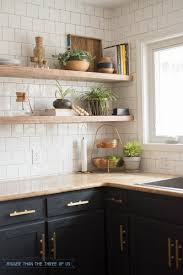 Open Shelf Kitchen Kitchen Reveal With Dark Cabinets And Open Shelving Bigger Than