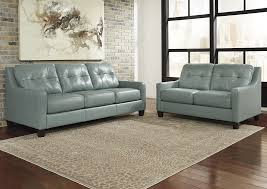 Brothers Fine Furniture O Kean Sky Sofa and Loveseat