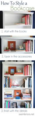 A breakdown on how-to style a bookcase. Inspiration tips and ideas on how