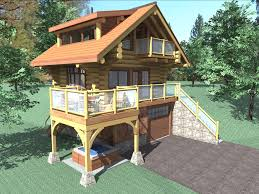 Small One Bedroom Homes The Bachelor Is A 484 Sq Ft 1 Bedroom 2 Bathroom Two Floor Log
