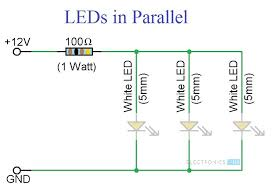 simple led circuits single led, series leds and parallel leds led circuit diagrams at Led Circuit Diagrams