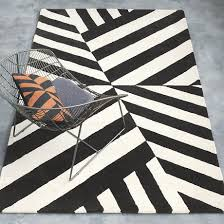 view in gallery black and white striped rug from cb2