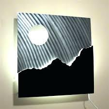lighted wall art decor lofty lighted wall art decor shining decorative led panels with timer batman lighted wall art