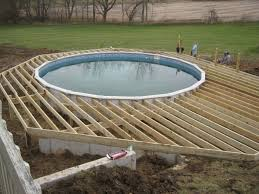image of above ground pool deck plans free