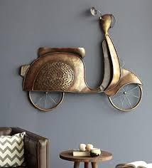 bronze iron scooty hanging wall decor