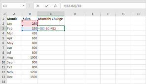 creating formulas in excel percent change formula in excel easy excel tutorial