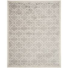 safavieh amherst moroccan gray ivory rectangular indoor outdoor machine made area rug common 10 x 14 actual 10 ft w x 14 ft l
