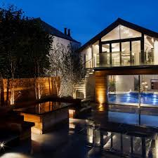lighting a house. External Lighting - The Pool And Gym Complex A House
