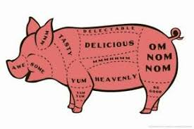 Details About Tasty Pig Cuts Butcher Chart Humor Mural Poster 36x54 Inch