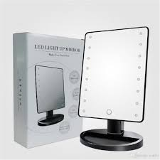 10x magnifier 16 leds dimmable led light up makeup mirror magnifying desktop table cosmetic mirror mirrors wall decor modern bathroom mirrors from icable