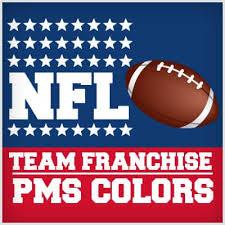Nfl Team Franchise Pantone Colors Phases Design Studio