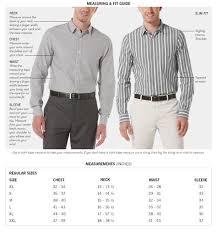 Men Dress Shirt Sizing Clothing Size Chart Dress Shirt