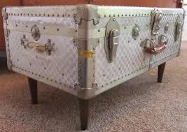 silver trunk coffee table medium size