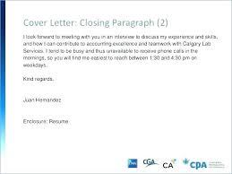 Cover Letter Closure Examples Closing Letters Sample Good First ...