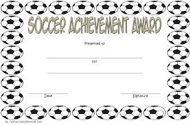 Free Soccer Certificate Templates Soccer Achievement Certificate Template 3 Paddle At The Point