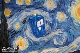 doctor who week starry night tardis painting i love the episode with amy pond and doctor 11 vincent and the doctor i love the story of vincent vangogh
