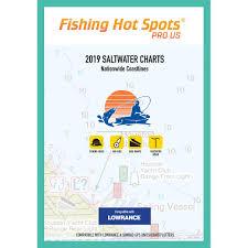 Fishing Hot Spots Pro Sw 2019 Saltwater Charts Nationwide Coastlines F Lowrance Simrad Units