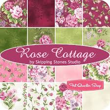 25 best Favourite Fabrics images on Pinterest | Charm pack, Shirt ... & Rose Cottage Strip Roll Skipping Stones Studio for Clothworks Fabrics - Fat  Quarter Shop Adamdwight.com
