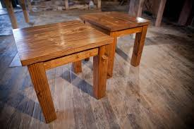 Solid Wood Farmhouse End Table Rustic Coffee Tables And Il Full
