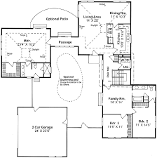 Large Contemporary Ranch Style House Plan CR2880 Sq Ft  Luxury Contemporary Ranch Floor Plans