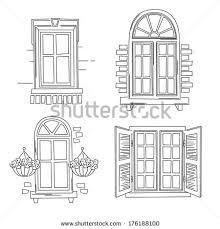 vintage window drawing. drawing windows window stock images royalty free vectors ideas . vintage t