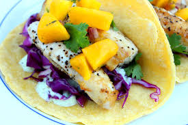 Mahi Mahi Fish Tacos with Mango Salsa ...