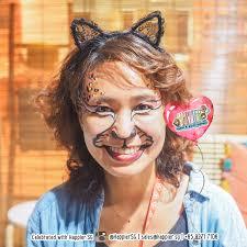 leopard cat face paint makeup artist