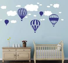 Hot Air Balloons Clouds Wall Stickers Nursery Baby Room Wall Vinyl Decor  Decoration-in Wall Stickers from Home & Garden on Aliexpress.com | Alibaba  Group