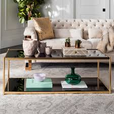Zola Glass/Gold Coffee Table