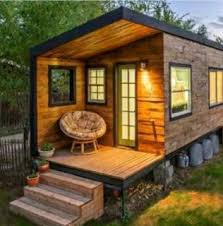 This house is made of wooden pallets, inside and out  which we think is  very ...