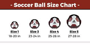 Soccer Ball Size Chart Soccer Equipment Checklist Soccer Equipment List