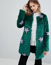 urbancode starry faux fur coat 132 93 asos com
