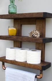 bathroom storage shelf wall