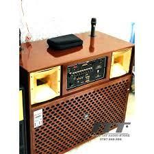Loa kéo 4 tấc đôi - Loa karaoke BASS ĐÔI 4 TẤC, THÙNG GỖ - Công suất cực  lớn hát karaoke cực hay - JBL 4545