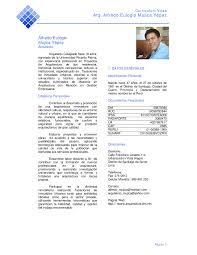 Modelo De Curriculum Vitae Lima Peru Modelo De Curriculum Vitae
