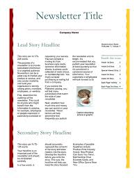 sample company newsletter newsletters office com