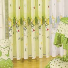 Green Cotton Bedroom Drapes And Curtains