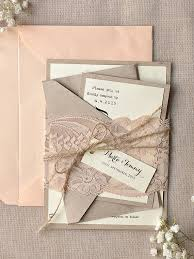 etsy lace wedding invitations. rustic blush lace calligraphy wedding invitations etsy r