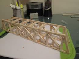 Designs For Glued Trusses Balsa Wood Bridge 17 Steps Instructables