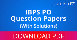 pdf ibps po previous year question papers