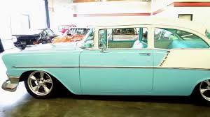 1956 Chevrolet Bel Air 150 2 Door Post GT Auto Lounge - YouTube