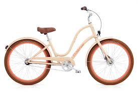 Electra Ladies Townie Balloon 7i EQ in Nude Townie Collection.