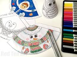 Christmas Coloring Paper 3d Christmas Coloring 3d Snowman Friends Red Ted Arts Blog