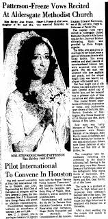 Wedding of Shirley Jean Freeze to Stephen Patterson on July 5, 1975 -  Newspapers.com