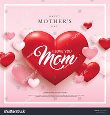Happy Mothers Day Poster Design Happy Mothers Day Poster Design Red Stock Vector Royalty