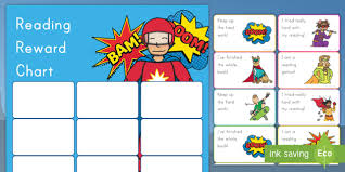 Reading Sticker Chart Superhero Reading Reward Chart