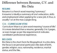 ... Cv And Resume The Same ...