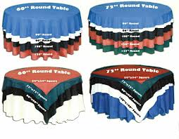 Linen Size Chart For Tables Partytime Rentals